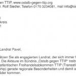 Offener Brief an den Landrat